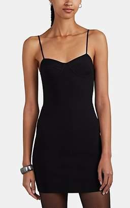Alexander Wang Women's Rib-Knit Bustier Minidress - Black