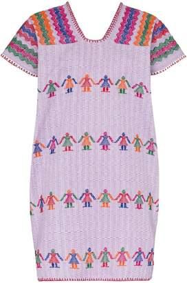 Pippa Holt embroidered kaftan mini dress