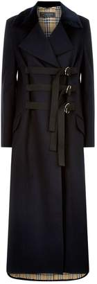 Burberry Oversized D-Ring Velvet Collar Coat