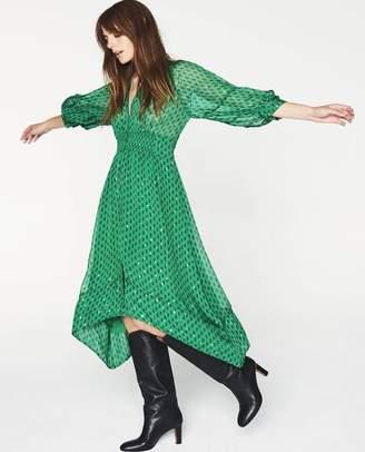 BA&SH Cyana Green Dress - Size 0 Uk6