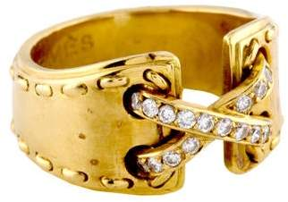 Hermes 18K Diamond Corset Ring