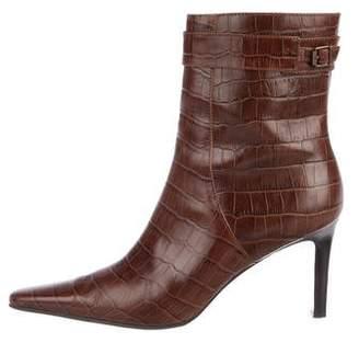 Lauren Ralph Lauren Embossed Ankle Boots
