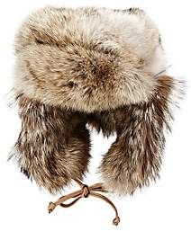 Crown Cap MEN'S FUR TRAPPER HAT-NATURAL SIZE L