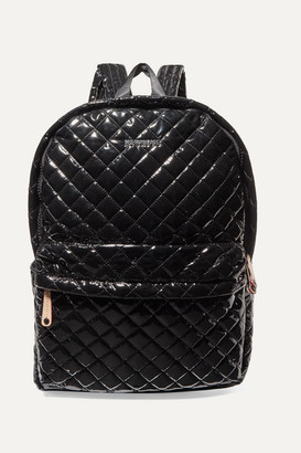 MZ Wallace Metro Leather-trimmed Quilted Vinyl Backpack