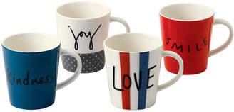 ED Ellen Degeneres Crafted by Royal Doulton Joy Mug, Set of 4