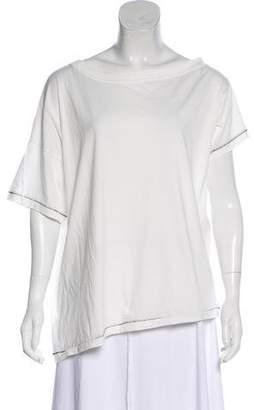 Ann Demeulemeester Short Sleeve Scoop Neck T-Shirt
