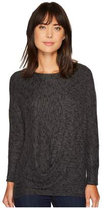 Bobeau B Collection by Jace Drape Front Cozy Top Women's Clothing