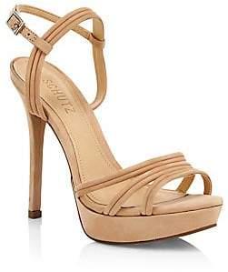 Schutz Women's Bogga Suede Platform Stiletto Sandals