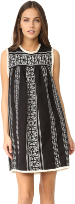 Sea Sleeveless Yarn Dye Dress $435 thestylecure.com