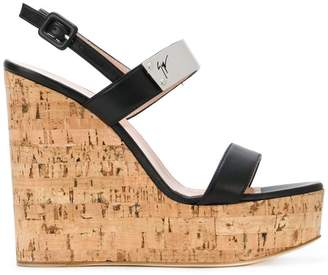 Giuseppe Zanotti Design cork wedge sandals