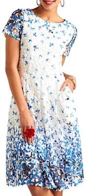 Yumi Butterfly Lace Dress, Blue