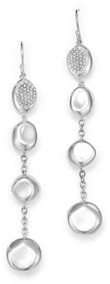 Ippolita Sterling Silver Onda Diamond Linear Drop Earrings