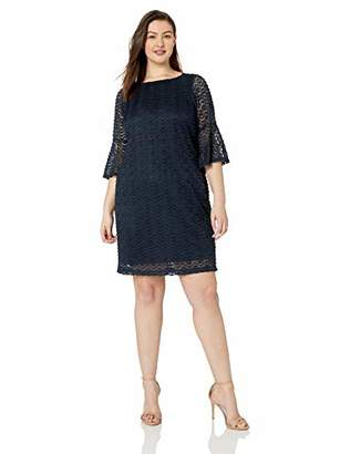 9376e0cd9 Sharagano Women s Plus Size Bell Sleeve Dress