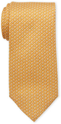 MICHAEL Michael Kors Yellow Hexagon Silk Tie