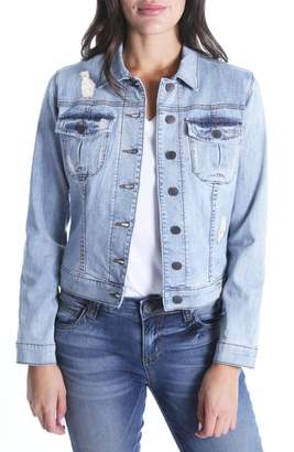 KUT from the Kloth Amelia Distressed Denim Jacket