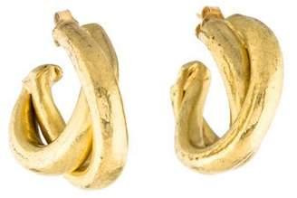 Vaubel Double Loop Hammered Hoop Earrings