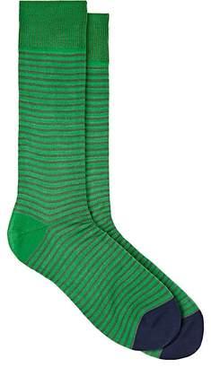 Paul Smith Men's Striped Cotton-Blend Mid-Calf Socks