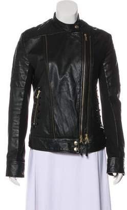 Just Cavalli Embellished Leather Jacket