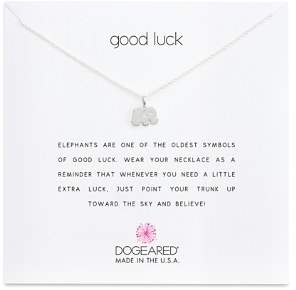 """Dogeared Sterling Silver Good Luck Elephant Necklace, 16"""""""