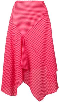 Paul Smith asymmetric check-print skirt