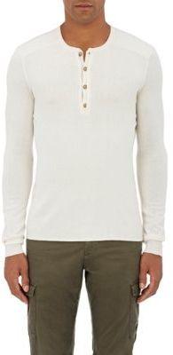 John Varvatos Women's Fine-Gauge Knit Henley-WHITE $398 thestylecure.com