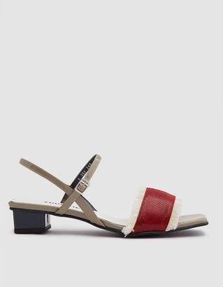 Yuul Yie Fringe Detail Sandal in Red/Navy