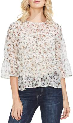 Vince Camuto Ditsy Manor Tiered Ruffle Blouse
