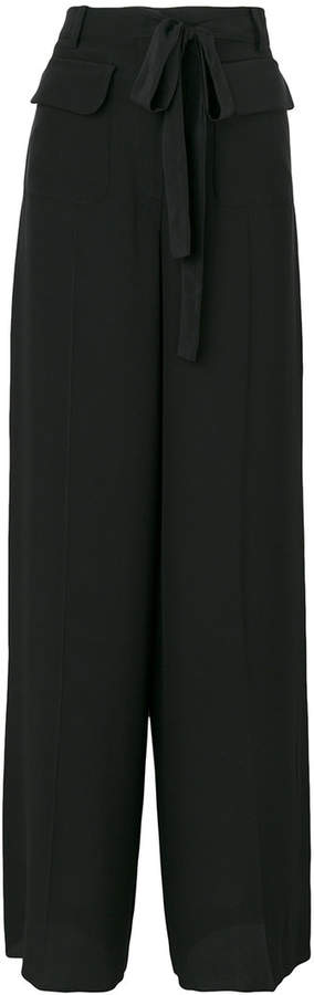 Valentino tied wide leg trousers