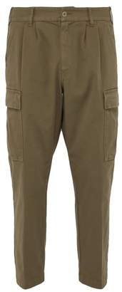 Barena Venezia - Cropped Stretch Cotton Gabardine Cargo Trousers - Mens - Khaki