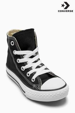 Boys Converse Chuck Taylor All Star Hi - Black