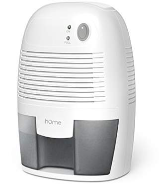 hOme Small Dehumidifier for 1200 cu ft (150 sq ft) Bathroom or Closet - 16 oz Capacity Mini Quiet Safe Compact Thermoelectric Energy Efficient Dehumidifier - Auto Shut Off