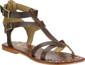 Matt Bernson - KM Gladiator Sandal Brown Leather