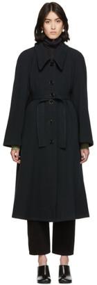 Lemaire Navy Wool Overcoat
