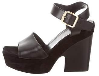Celine Suede Platform Sandals