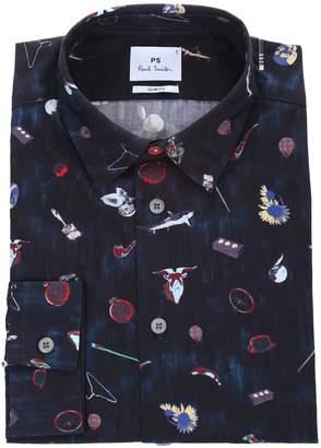Paul Smith Printed slim-fit cotton shirt