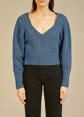 KHAITE The Charlette Sweater in Denim Blue