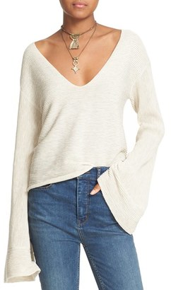 Free People 'Starman' Rib Knit Pullover $108 thestylecure.com