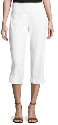 Neon Buddha Eden Pull-On Capri Pants, White $75 thestylecure.com