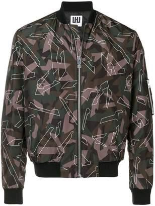 Les Hommes Urban camouflage print bomber jacket