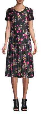 French Connection Florence Printed Plisse Dress