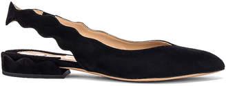 Chloé Ballerina Slingback Flats in Black | FWRD