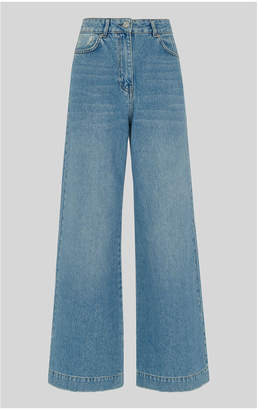 Whistles Full Leg Mid Wash Jean