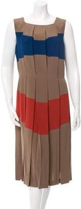 Bottega Veneta Colorblock Silk Dress w/ Tags