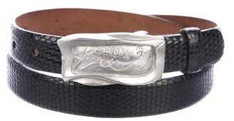 Donna Karan Lizard Buckle Belt