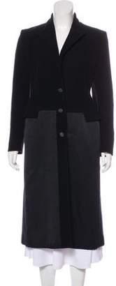 Prada Wool Silk-Paneled Coat
