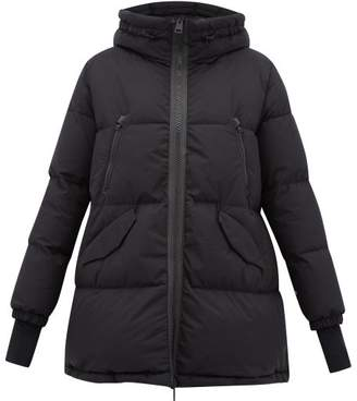 Herno Quilted Gore Tex A Line Hooded Jacket - Womens - Black