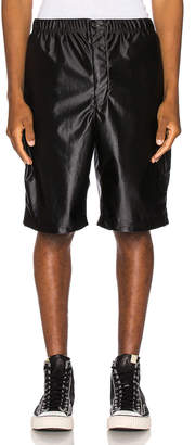 Engineered Garments Jog Short Polyester Duzzle in Black | FWRD