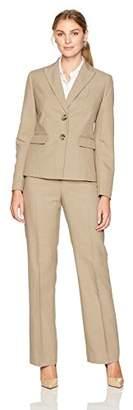 Le Suit Women's Shadow Stripe 2 Button Notch Lapel Pant Suit