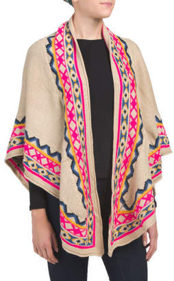 Juniors Printed Poncho