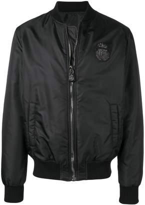 Billionaire lion print bomber jacket